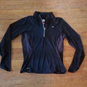 Nike quarterzip running shirt size M
